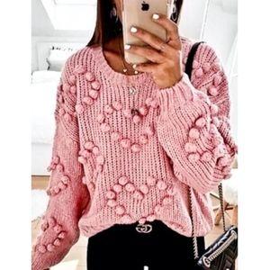 HEARTS Knit Dusty Pink Sweater